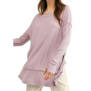 NWT Free people north shore thermal lilac top M